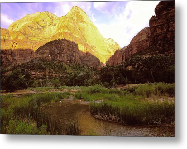 Frist Light Zion Metal Print by Alan Lenk