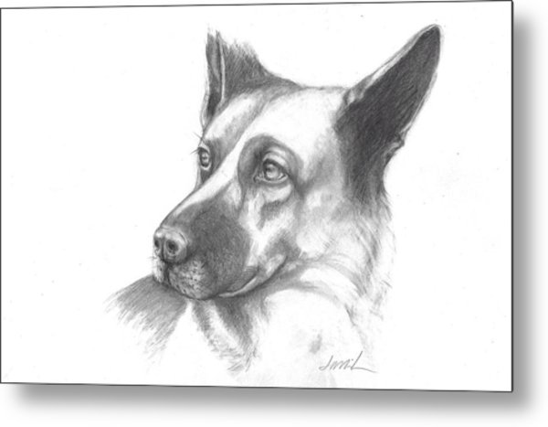 Fritz The German Shepherd Metal Print