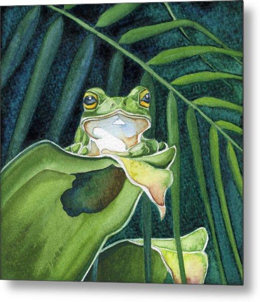 Frog The Pose Metal Print