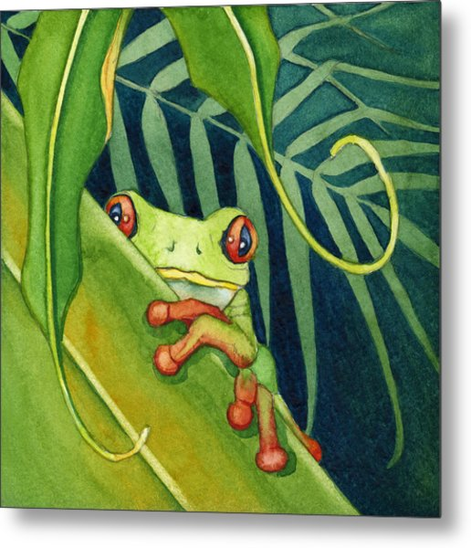 Frog The Timid One Metal Print