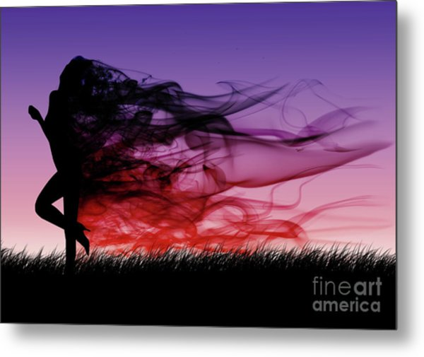 Frolicking Through The Meadow Metal Print