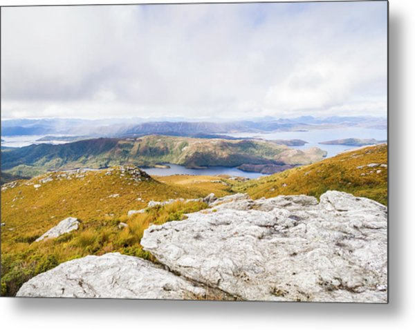 From Mountains To Lakes Metal Print