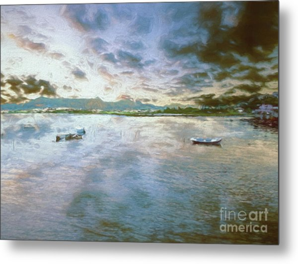 Metal Print featuring the photograph From The Causeway by Leigh Kemp