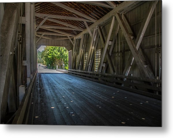 From The Inside Looking Out - Shimanek Bridge Metal Print