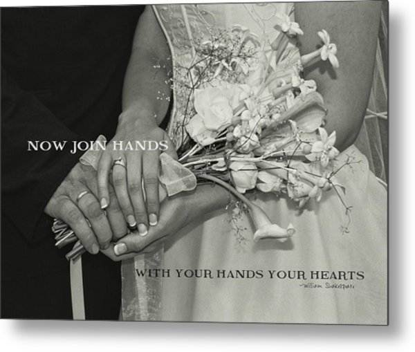 From This Day Forward Quote Metal Print by JAMART Photography