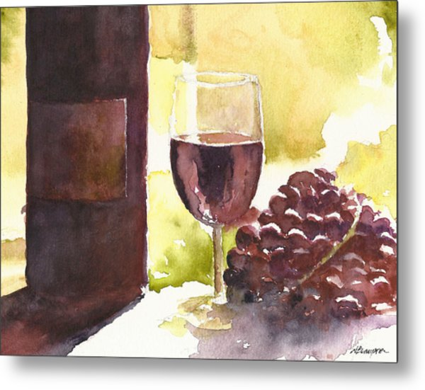 From Vine To Glass Metal Print
