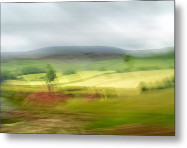 Metal Print featuring the photograph heading north of Yorkshire to Lake District - UK 1 by Dubi Roman