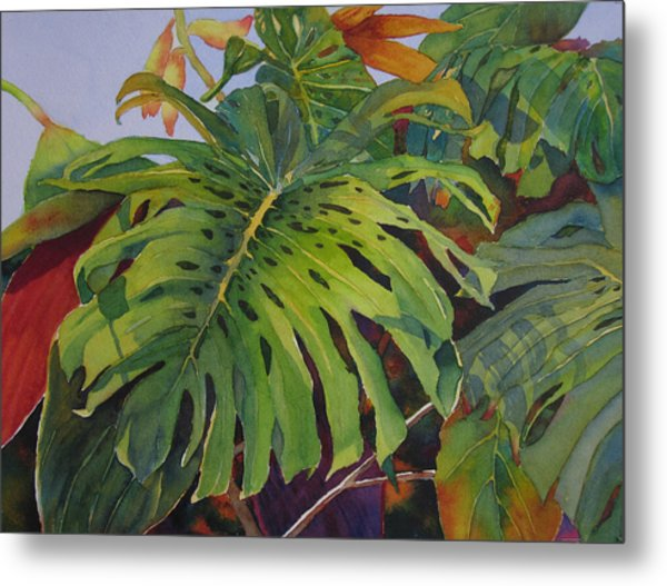 Fronds And Foliage Metal Print
