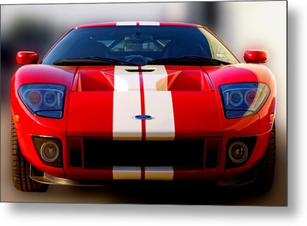 Front Ford Gt Metal Print by James Granberry