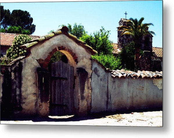 Front Gate -mission San Miguel Metal Print