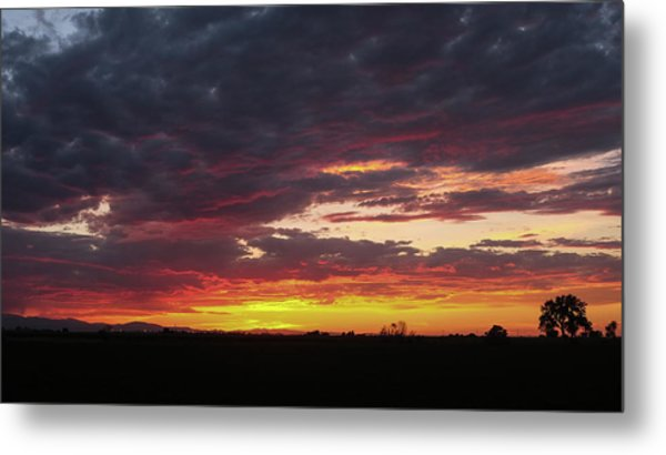 Front Range Sunset Metal Print