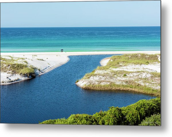 Front Row Seat On The Beach Metal Print