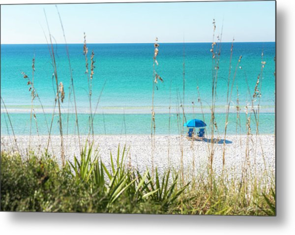 Front Row Seats On The Beach Metal Print