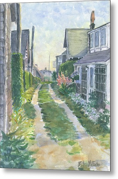 Front Street Siasconset Nantucket Metal Print