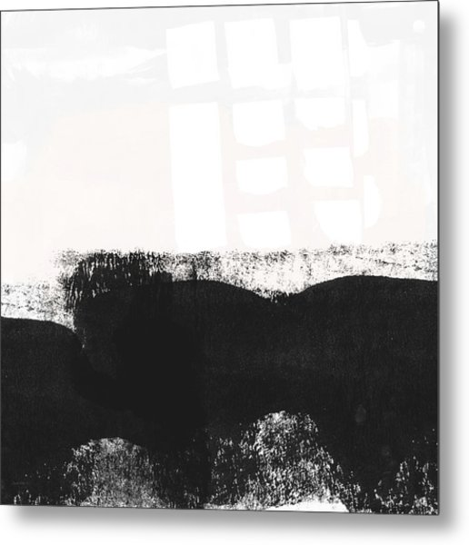 Frontier 24- Modern Abstract Art By Linda Woods Metal Print