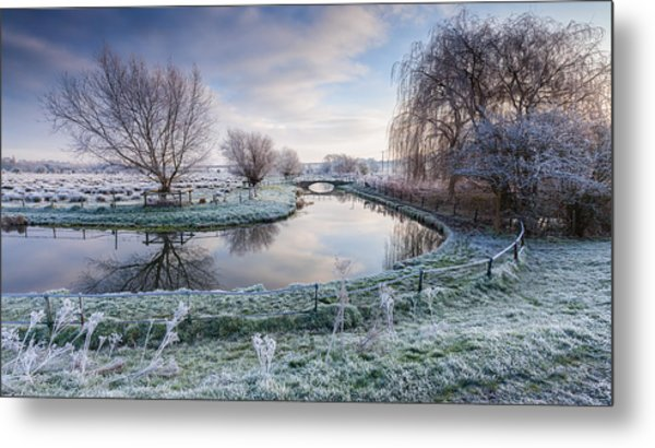 Frost On The Marshes Metal Print