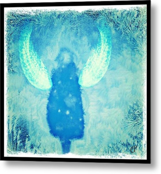 Frosted Angel Metal Print
