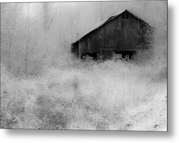 Metal Print featuring the photograph Frosted Barn by Rick Hartigan