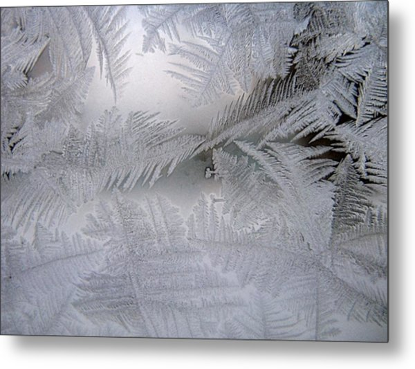 Frosted Pane Metal Print