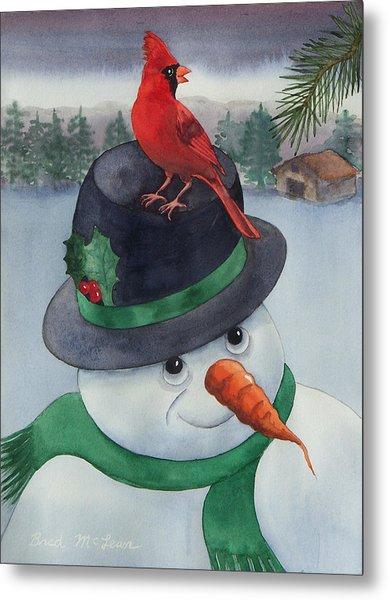 Frosty Friend Metal Print by Brad McLean