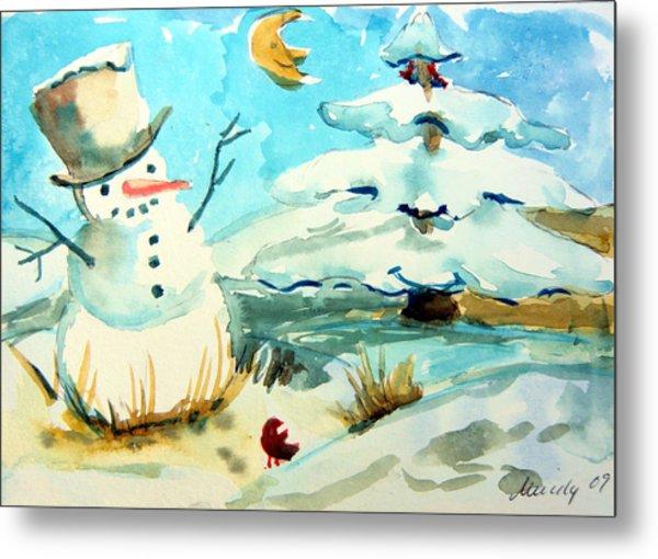 Frosty The Snow Man Metal Print