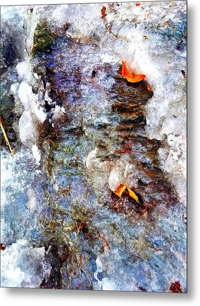Frozen Bank  Metal Print