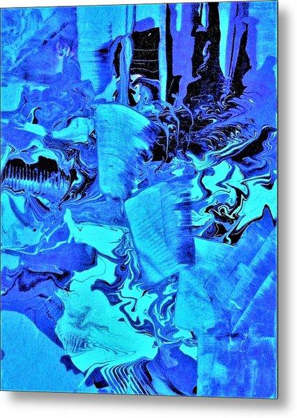 Frozen Beauty Metal Print