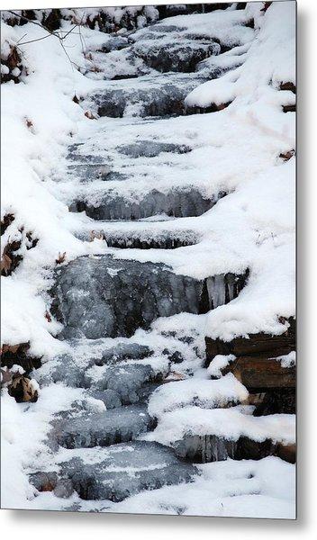 Frozen Falls Metal Print by Peter  McIntosh