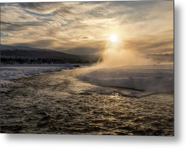 Metal Print featuring the photograph Frozen Mist by Fred Denner