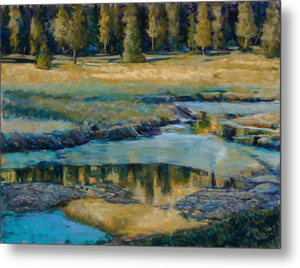 Frozen Reflections Metal Print by Billie Colson