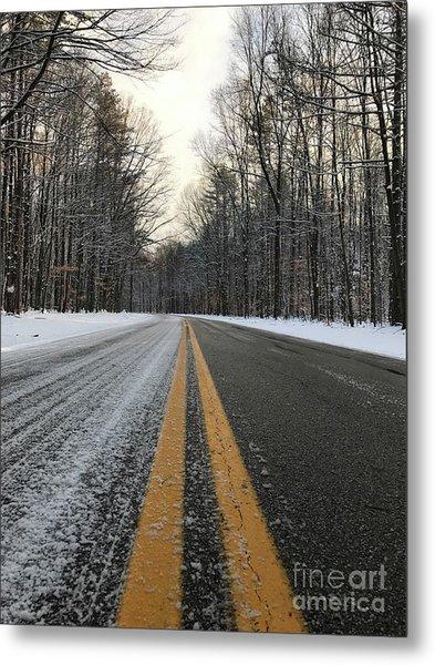 Frozen Road In Life Metal Print by Michael Krek