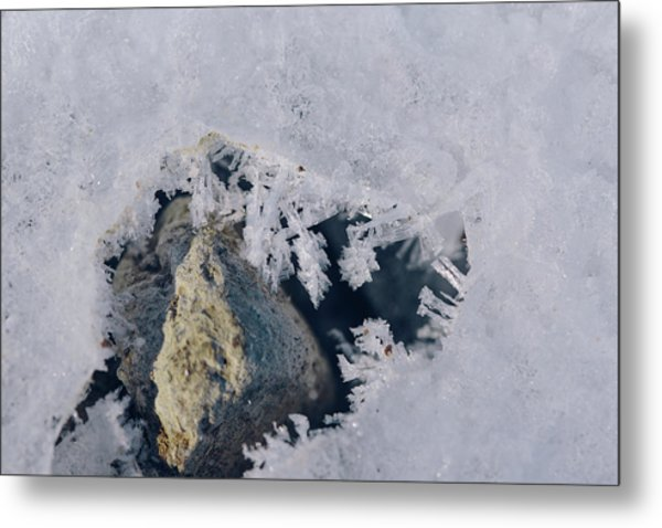 Frozen Rock Metal Print
