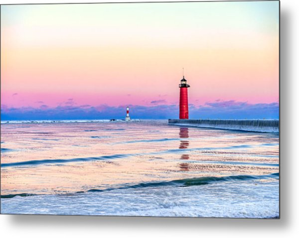 Frozen Sunset Metal Print
