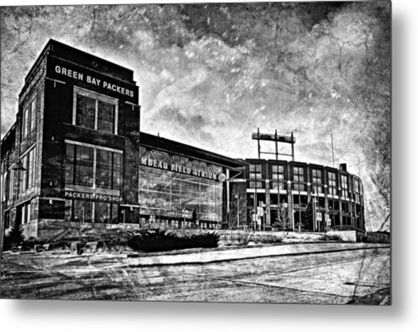 Frozen Tundra - Black And White Metal Print