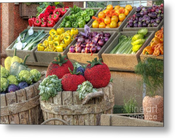 Fruit And Veggie Display Metal Print