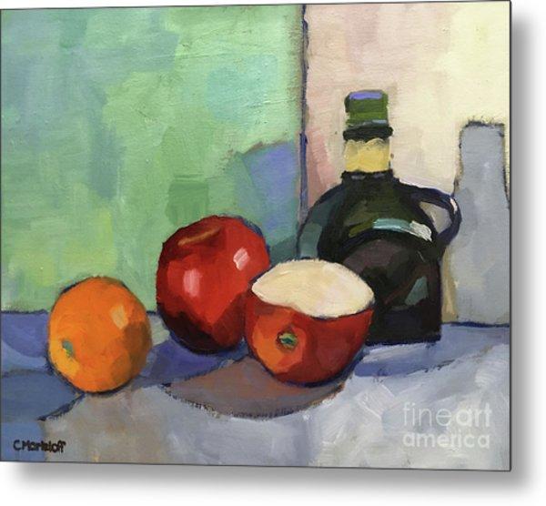 Fruit And Vinegar Metal Print by Catherine Martzloff