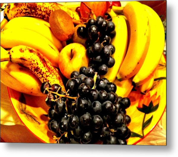 Fruit Basket Metal Print