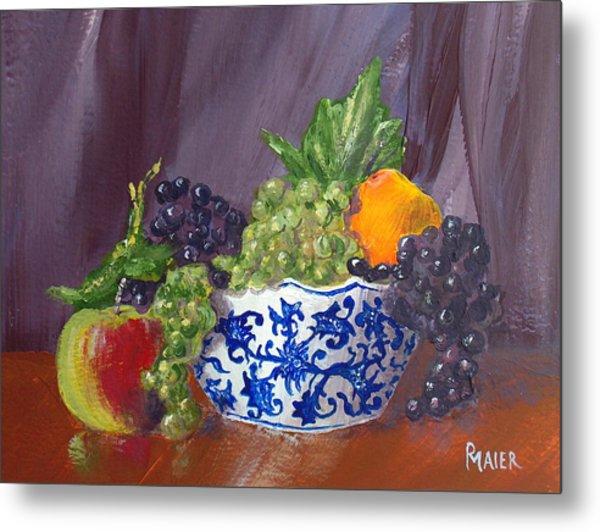 Fruit Bowl Metal Print by Pete Maier