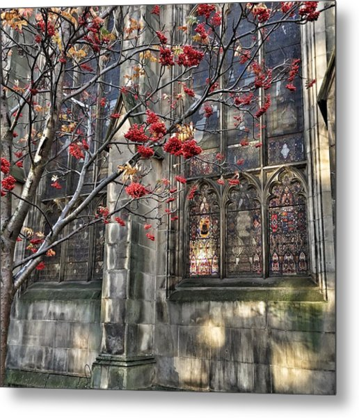Fruit By The Church Metal Print