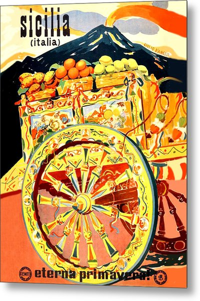 Fruit Carriage From Sicily Metal Print