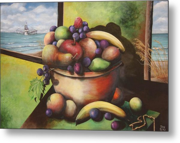 Fruit On The Beach Metal Print