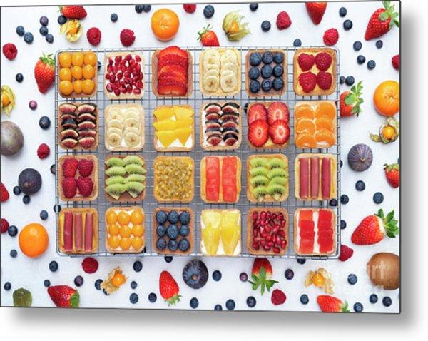 Fruit Squares  Metal Print