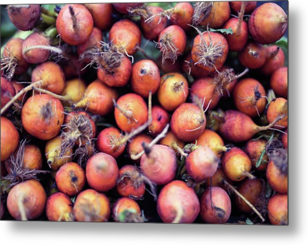 Fruits And Vegetable At Farmer Market Metal Print