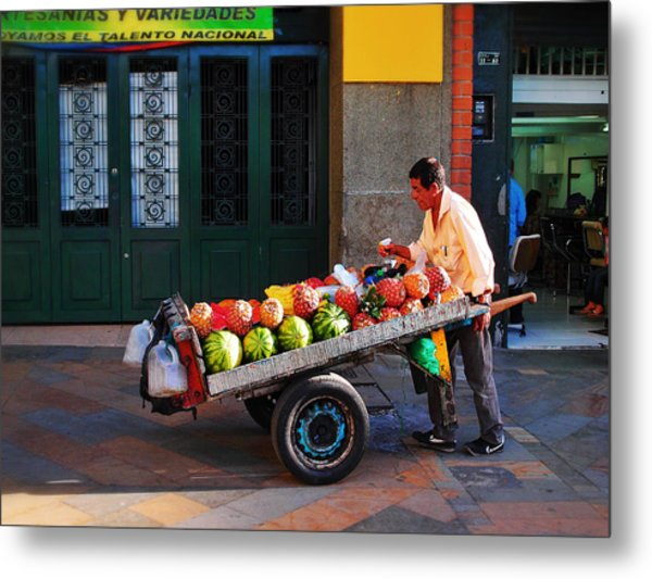 Metal Print featuring the photograph Fruta Limpia by Skip Hunt