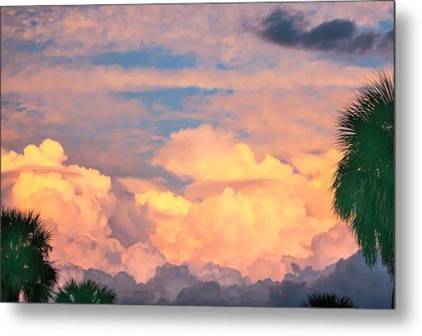 Ft De Soto Sunset Clouds Metal Print