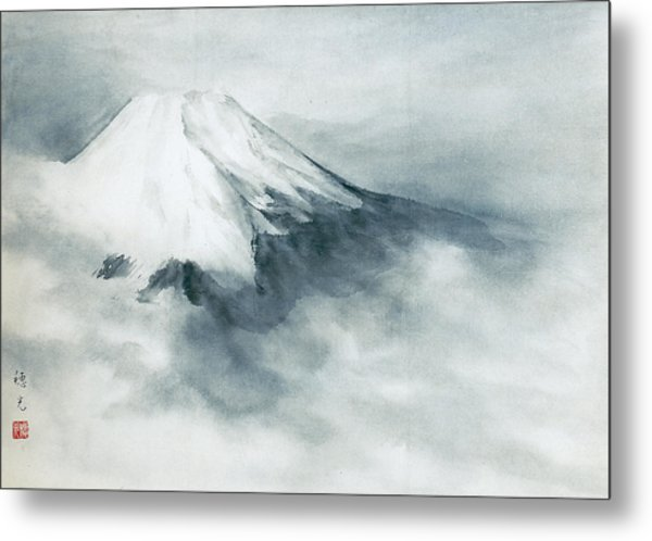 Fuji - Fresh Snow Metal Print by Suiko Sakurai