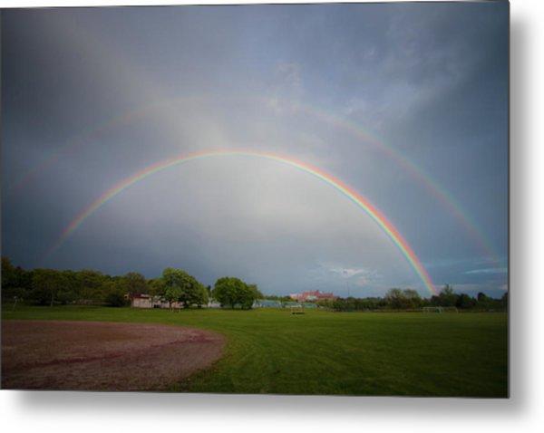 Full Double Rainbow Metal Print