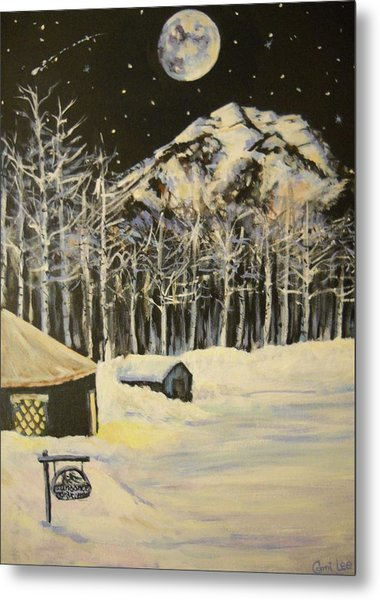 Full Moon At The Sundance Nordic Center Metal Print