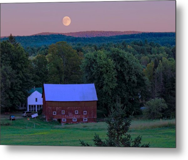 Full Moon From High Street Metal Print