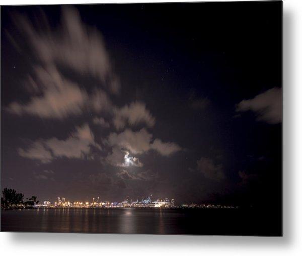 Full Moon In Miami Metal Print